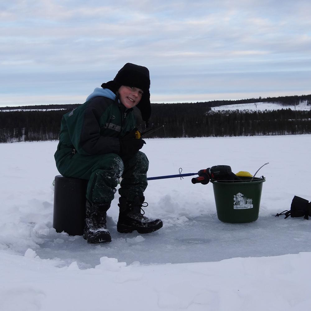 Eisfischen Nordschweden
